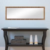 Wand-Spiegel ca. 36x96 cm im Massivholz-Rahmen Barock-Stil Antik Gold / Spiegelfläche 30x90 cm – Bild 4