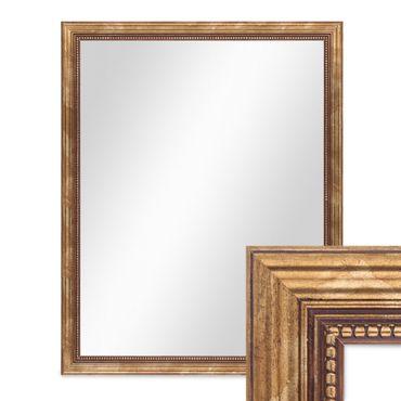 Wand-Spiegel ca. 46x56 cm im Massivholz-Rahmen Barock-Stil Antik Gold / Spiegelfläche 40x50 cm