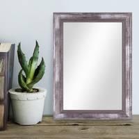 Wand-Spiegel ca. 26x36 cm im Massivholz-Rahmen Barock-Stil Antik Silber / Spiegelfläche 20x30 cm – Bild 2