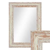 Wand-Spiegel 26x36 cm Weiss Shabby-Chic Vintage / Spiegelfläche 20x30 cm