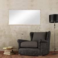 Wand-Spiegel 56x106 cm im Holzrahmen Weiss Shabby-Chic Vintage / Spiegelfläche 50x100 cm – Bild 4