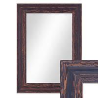 Wand-Spiegel 26x36 cm Dunkelbraun Shabby-Chic Vintage / Spiegelfläche 20x30 cm