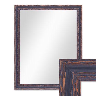 Wand-Spiegel 46x56 cm im Holzrahmen Dunkelbraun Shabby-Chic Vintage / Spiegelfläche 40x50 cm