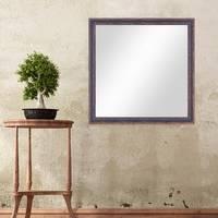 Wand-Spiegel 56x56 cm im Holzrahmen Dunkelbraun Shabby-Chic Vintage Quadratisch / Spiegelfläche 50x50 cm – Bild 2