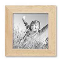 2er Set Bilderrahmen 10x10 cm Kiefer Natur Modern Massivholz-Rahmen mit Glasscheibe und Zubehör / Fotorahmen  – Bild 6