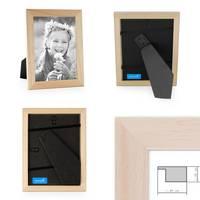 2er Set Bilderrahmen 10x15 cm Kiefer Natur Modern Massivholz-Rahmen mit Glasscheibe und Zubehör / Fotorahmen  – Bild 2