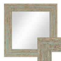 Wand-Spiegel 26x26 cm im Holzrahmen Grau-Grün Shabby-Chic Vintage Quadratisch / Spiegelfläche 20x20 cm – Bild 1