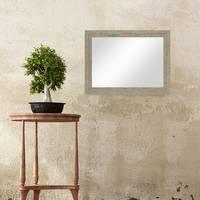 Wand-Spiegel 36x46 cm im Holzrahmen Grau-Grün Shabby-Chic Vintage / Spiegelfläche 30x40 cm – Bild 4