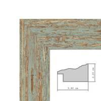 Wand-Spiegel 56x56 cm im Holzrahmen Grau-Grün Shabby-Chic Vintage Quadratisch / Spiegelfläche 50x50 cm – Bild 3