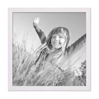 5er Set Landhaus-Bilderrahmen 30x30 cm Weiss Massivholz mit Glasscheibe und Zubehör / Fotorahmen  – Bild 4