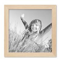 3er Set Bilderrahmen 20x20 cm Kiefer Natur Modern Massivholz-Rahmen mit Glasscheibe und Zubehör / Fotorahmen  – Bild 3
