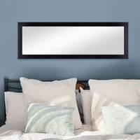 Wand-Spiegel 38x98 cm Schlicht Modern Schwarz / Spiegelfläche 30x90 cm – Bild 4