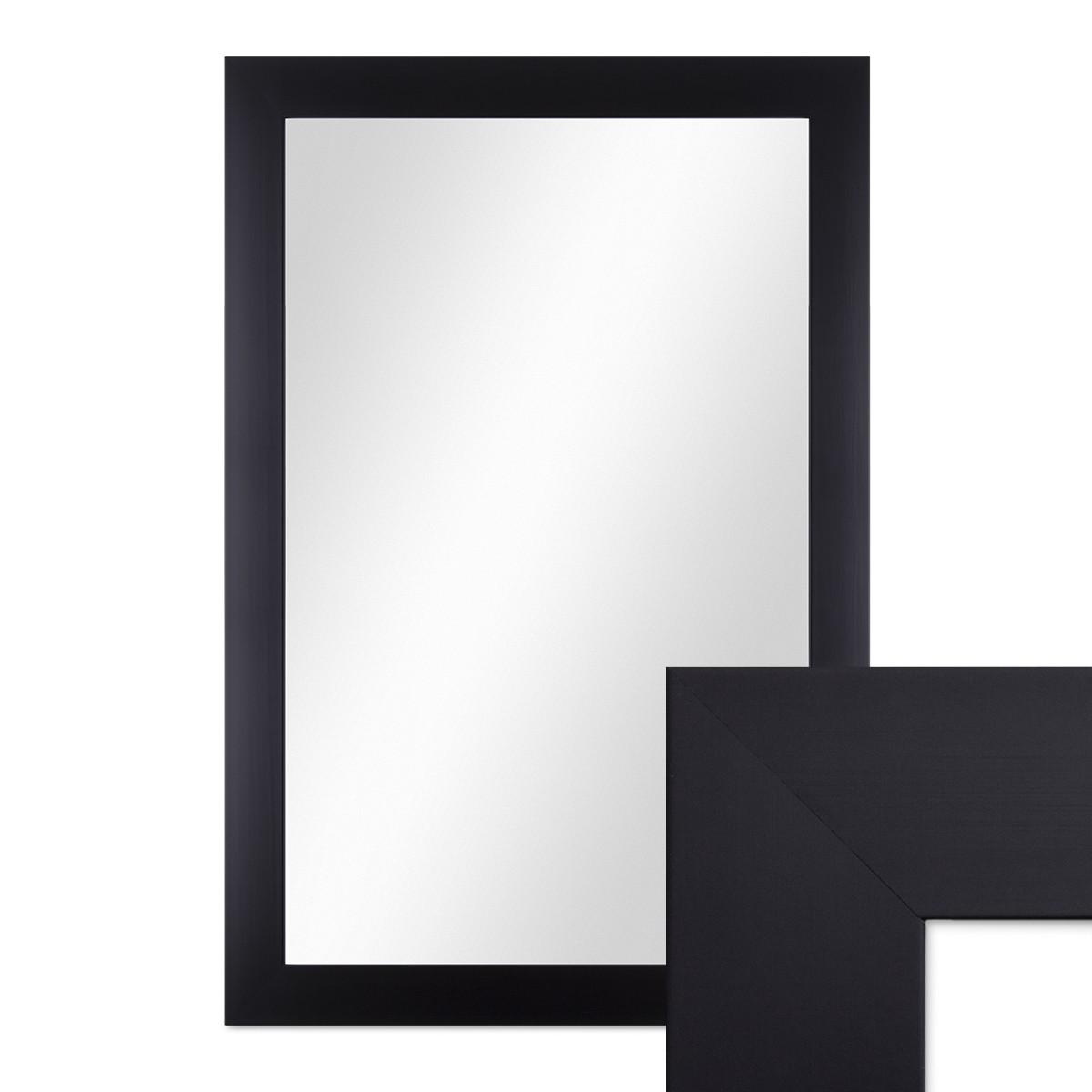 wand spiegel 48x68 cm schlicht modern schwarz spiegelfl che 40x60 cm spiegel. Black Bedroom Furniture Sets. Home Design Ideas