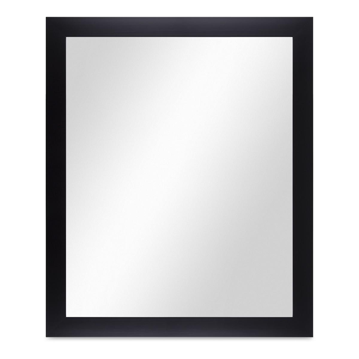 Großartig Wand-Spiegel 58x68 cm im Holzrahmen Schlicht Modern Schwarz  LS68