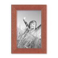 Bilderrahmen 10x15 cm Kirsche Modern Massivholz-Rahmen mit Glasscheibe und Zubehör / Fotorahmen  – Bild 1