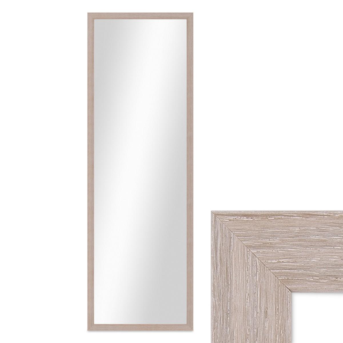 Wand spiegel 33x93 cm im holzrahmen sonoma eiche hell - Spiegel holzrahmen eiche ...