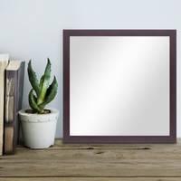 Wand-Spiegel 33x33 cm im Holzrahmen Nuss-Optik Dunkelbraun Modern Quadratisch / Spiegelfläche 30x30 cm – Bild 4