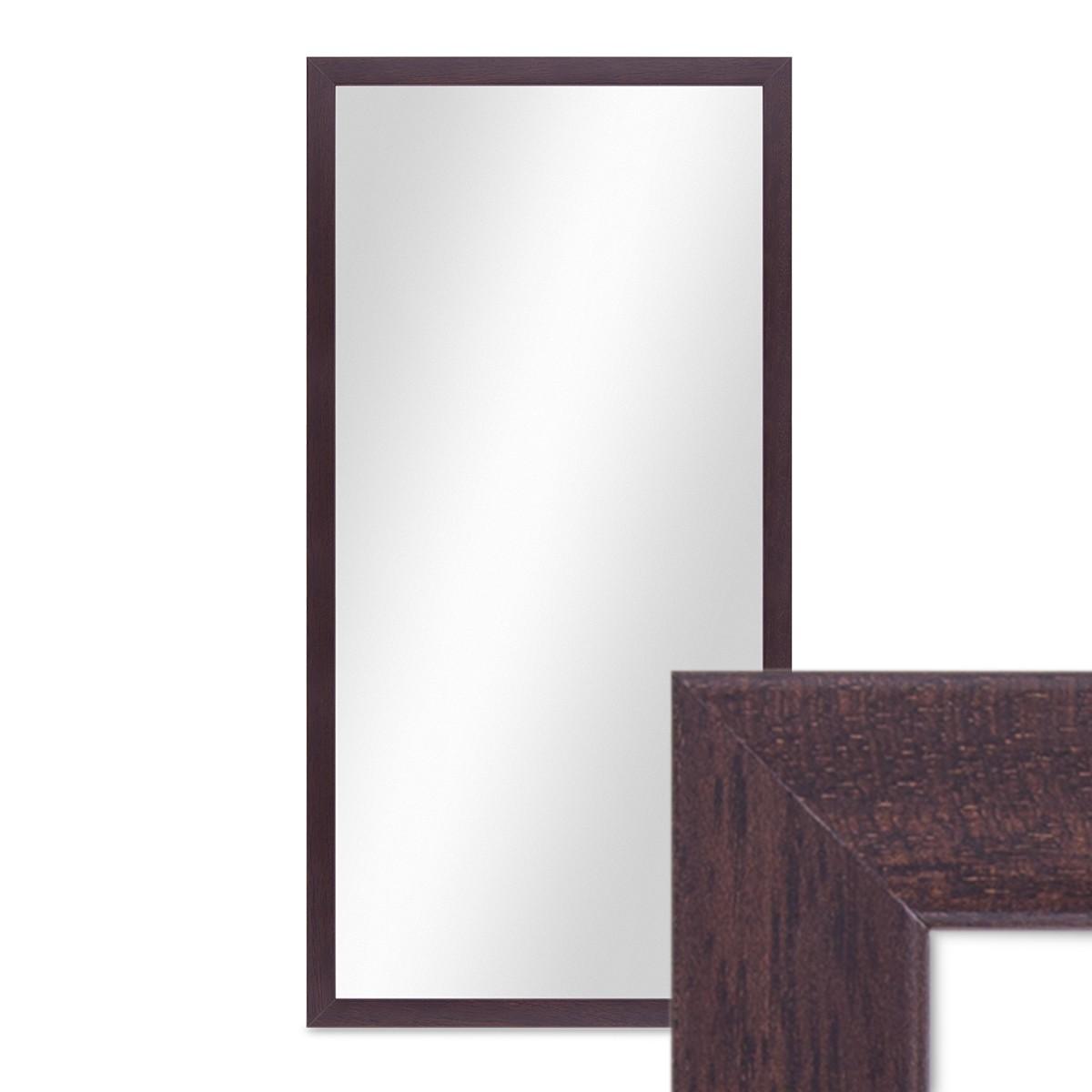wand spiegel 33x63 cm im holzrahmen nuss optik dunkelbraun modern spiegelfl che 30x60 cm spiegel. Black Bedroom Furniture Sets. Home Design Ideas