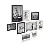 9er Set Bilderrahmen für grosse Bilderwand Modern Shabby-Chic 10x15 bis 20x30 cm inklusive Zubehör – Bild 3