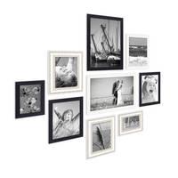 9er Set Bilderrahmen für grosse Bilderwand Modern Shabby-Chic 10x15 bis 20x30 cm inklusive Zubehör