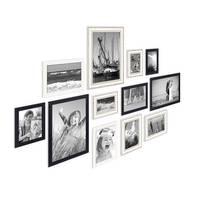 12er Set Bilderrahmen für grosse Bilderwand Modern Shabby-Chic 10x15 bis 20x30 cm  inklusive Zubehör