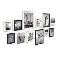 12er Set Bilderrahmen für grosse Bilderwand Modern Shabby-Chic 10x15 bis 20x30 cm  inklusive Zubehör – Bild 4