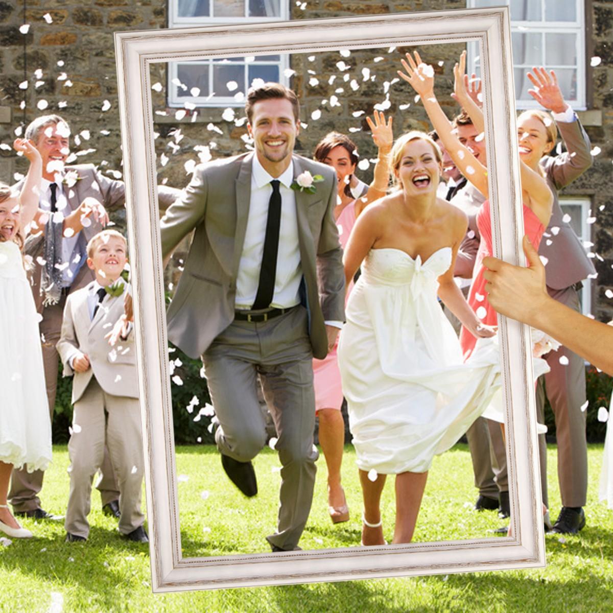 Hochzeit Bilderrahmen Für Beeindruckende Hochzeitsfotos Hochzeitsspiele  Oder Als Hochzeits Rahmen Und Photo Booth