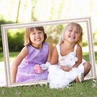 Hochzeit-Bilderrahmen für beeindruckende Hochzeitsfotos Hochzeitsspiele oder als Hochzeits-Rahmen und Photo-Booth Zubehör 40x60 cm Farbe Weiß – Bild 4