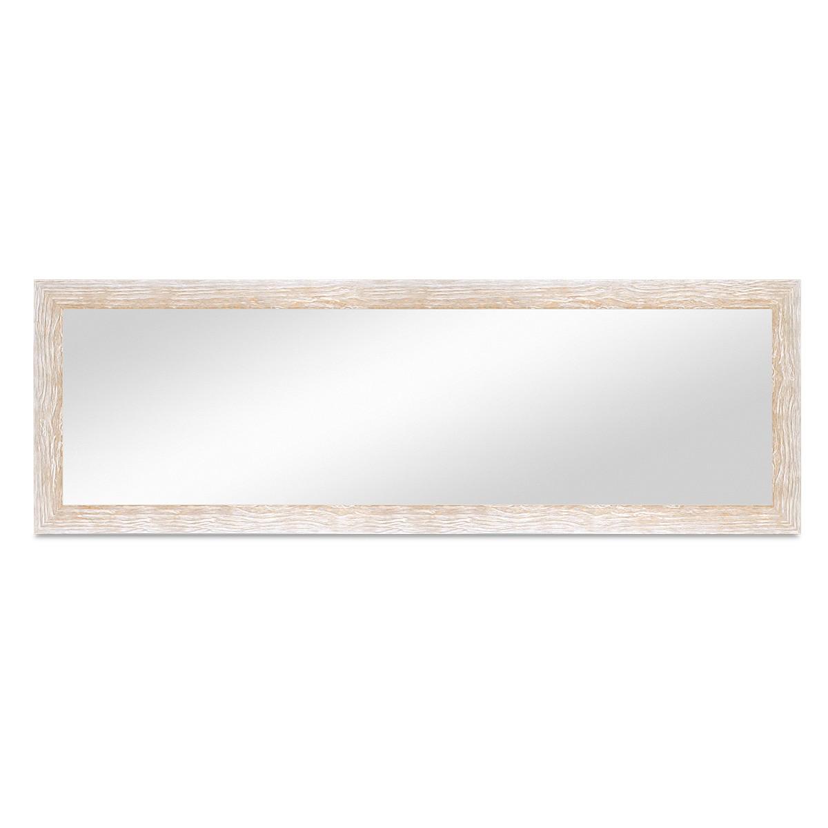wand spiegel 38x98 cm im holzrahmen sonoma eiche optik hell gekalkt modern spiegelfl che 30x90. Black Bedroom Furniture Sets. Home Design Ideas