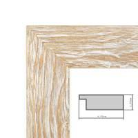 Wand-Spiegel 38x98 cm im Holzrahmen Sonoma Eiche-Optik Hell Gekalkt Modern / Spiegelfläche 30x90 cm – Bild 5