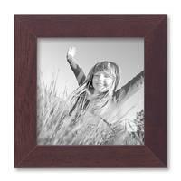 Bilderrahmen 10x10 cm Nuss Modern Massivholz-Rahmen mit Glasscheibe und Zubehör / Fotorahmen  – Bild 1