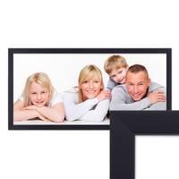 Panorama-Bilderrahmen 30x60 cm Schwarz Modern aus MDF mit Glasscheibe und Zubehör / Fotorahmen