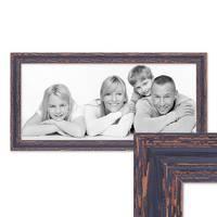 Panorama-Bilderrahmen 30x60 cm Holz Dunkelbraun Shabby-Chic Vintage Massivholz mit Glasscheibe und Zubehör / Fotorahmen / Nostalgierahmen