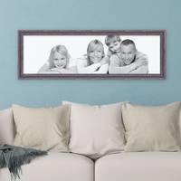Panorama-Bilderrahmen Vintage 30x90 cm Holz Dunkelbraun Shabby-Chic Massivholz m. Acrylglas inkl. Zubehör / Fotorahmen / Nostalgierahmen  – Bild 2