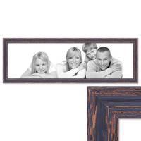 Panorama-Bilderrahmen Vintage 30x90 cm Holz Dunkelbraun Shabby-Chic Massivholz m. Acrylglas inkl. Zubehör / Fotorahmen / Nostalgierahmen  – Bild 1