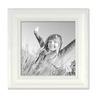 Bilderrahmen Landhaus-Stil Weiss 15x15 cm Massivholz mit Glasscheibe und Zubehör / Fotorahmen  – Bild 1