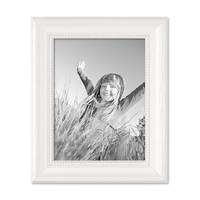 2er Set Bilderrahmen Landhaus-Stil Weiss 18x24 cm Massivholz mit Glasscheibe und Zubehör / Fotorahmen  – Bild 7
