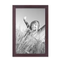 3er Set Bilderrahmen 20x30 cm Nuss Modern Massivholz-Rahmen mit Glasscheibe und Zubehör / Fotorahmen  – Bild 4