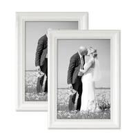 2er Bilderrahmen-Set 21x30 cm / DIN A4 Landhaus-Stil Weiss