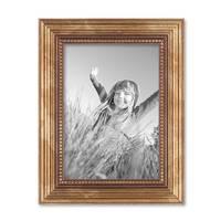 Bilderrahmen 13x18 cm Gold Barock Antik Massivholz mit Glasscheibe und Zubehör / Fotorahmen / Barock-Rahmen  – Bild 3