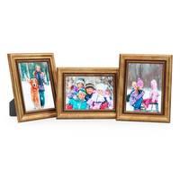 3er Set Bilderrahmen 10x15 cm Gold Barock Antik Massivholz mit Glasscheibe und Zubehör / Fotorahmen / Barock-Rahmen  – Bild 7