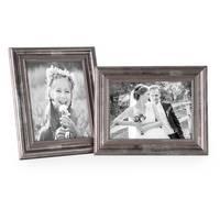 Bilderrahmen 13x18 cm Silber Barock-Rahmen Antik Massivholz 2er Set – Bild 5
