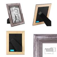 Bilderrahmen 13x18 cm Silber Barock-Rahmen Antik Massivholz 2er Set – Bild 2