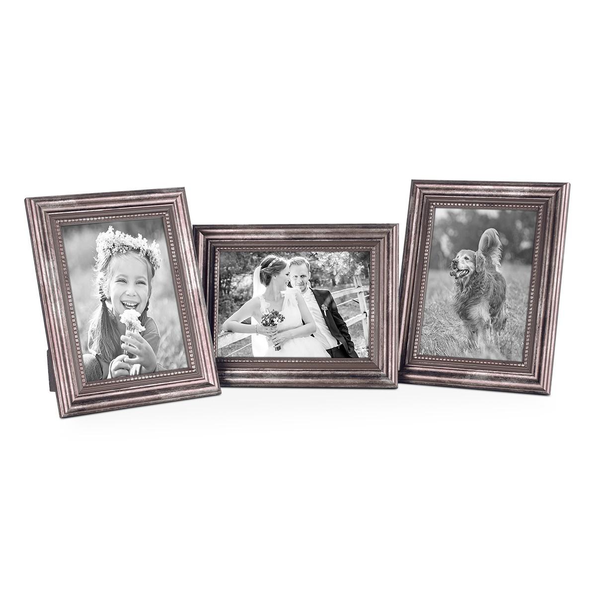 bilderrahmen 10x15 cm silber barock antik 3er set bilderrahmen