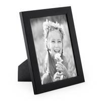 2er Set Bilderrahmen 13x18 cm Schwarz Modern aus MDF mit Glasscheibe und Zubehör / Fotorahmen  – Bild 3