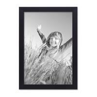 2er Set Bilderrahmen 20x30 cm Schwarz Modern aus MDF mit Glasscheibe und Zubehör / Fotorahmen  – Bild 3