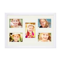 Collagerahmen 30x45 cm Modern Weiss für 5 Bilder