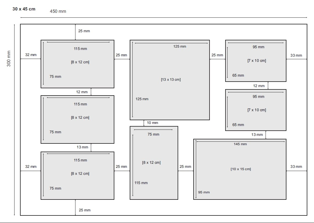 fotocollage bilderrahmen 30x45 cm modern weiss collagerahmen bildergalerie rahmen f r 8 bilder. Black Bedroom Furniture Sets. Home Design Ideas