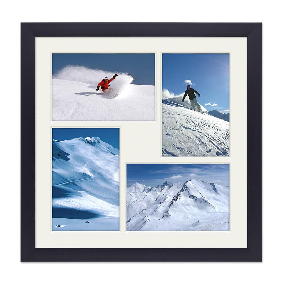 Fotocollage-Bilderrahmen 30x30 cm Modern Schwarz Collagerahmen ...
