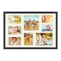 Collagerahmen 40x60 cm Modern Schwarz für 8 Bilder